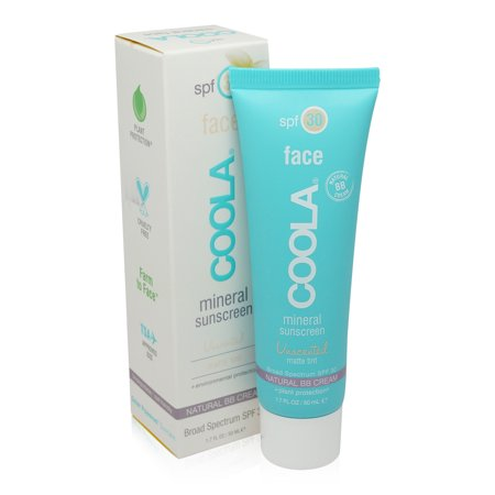 Shelter Tinted Sunscreen - COOLA Mineral Face SPF 30 Sunscreen Matte Tint, Unscented, 1.7 Ounce