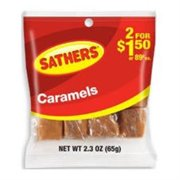 Sathers Caramels 12 pack (2.3oz per pack) (Pack of 4)