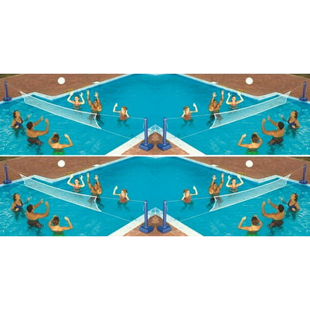 (4) Swimline 9186 Cross Inground Swimming Pool Fun Volleyball Net Game Water Sets)