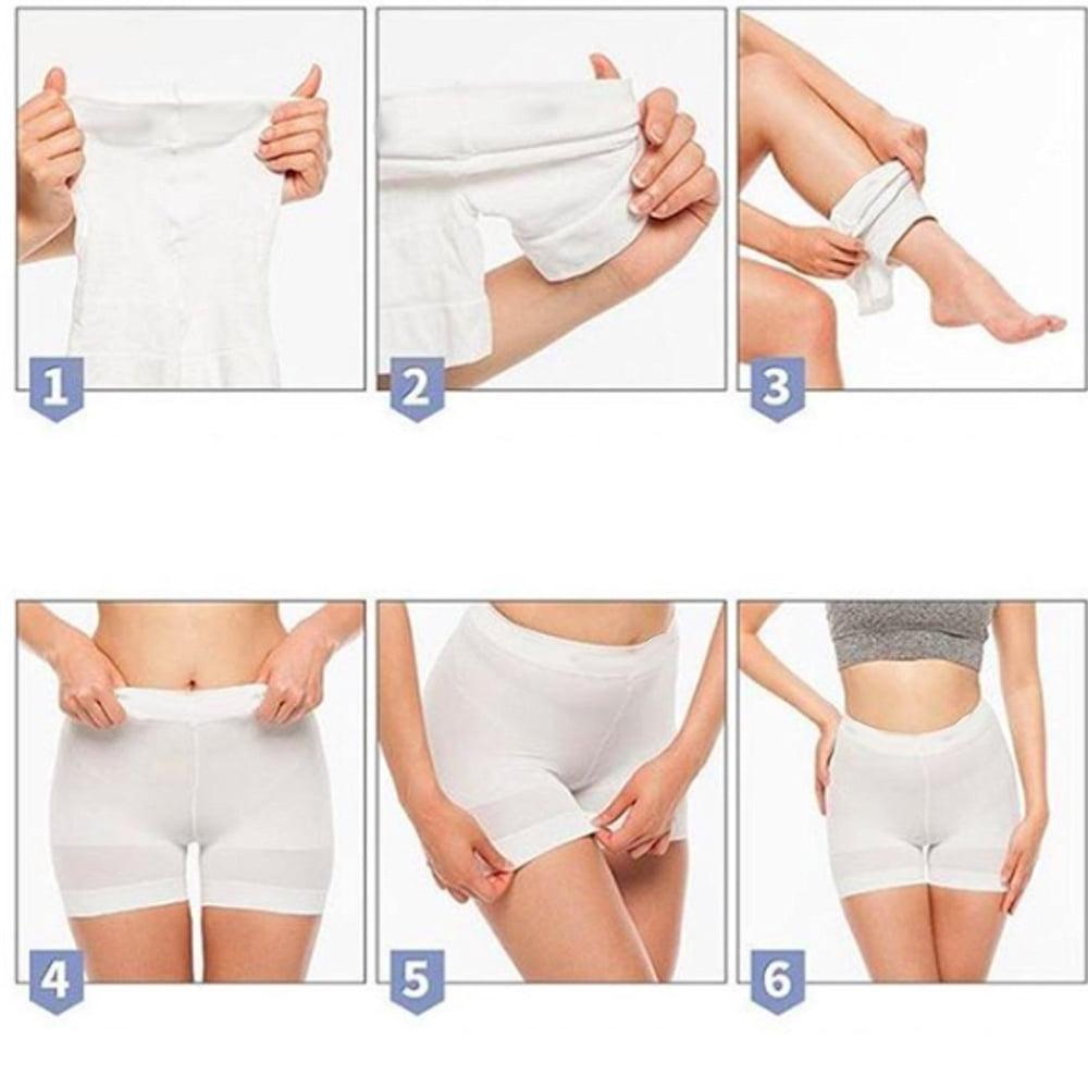8945a6eced303 E-Tel - Women s High Waist Shapewear Butt Lifter Underwear Body Shaper  Waist Trainer Panties-White - Walmart.com