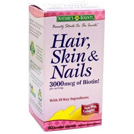 Nature's Bounty multivitamines / minéraux pour les cheveux, ongles, peau chez les femmes, 60 CT (Pack de 3)