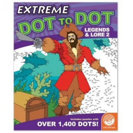 MindWare - Extreme Dot to Dot Legends and Lore 2 - 32 Puzzles with Up To 1,400 Dots - Features Images and Pictures From Various Legends and Lore Around the World for $<!---->