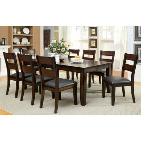 Furniture of America Arlen 9 Piece Extendable Dining Set in Cherry