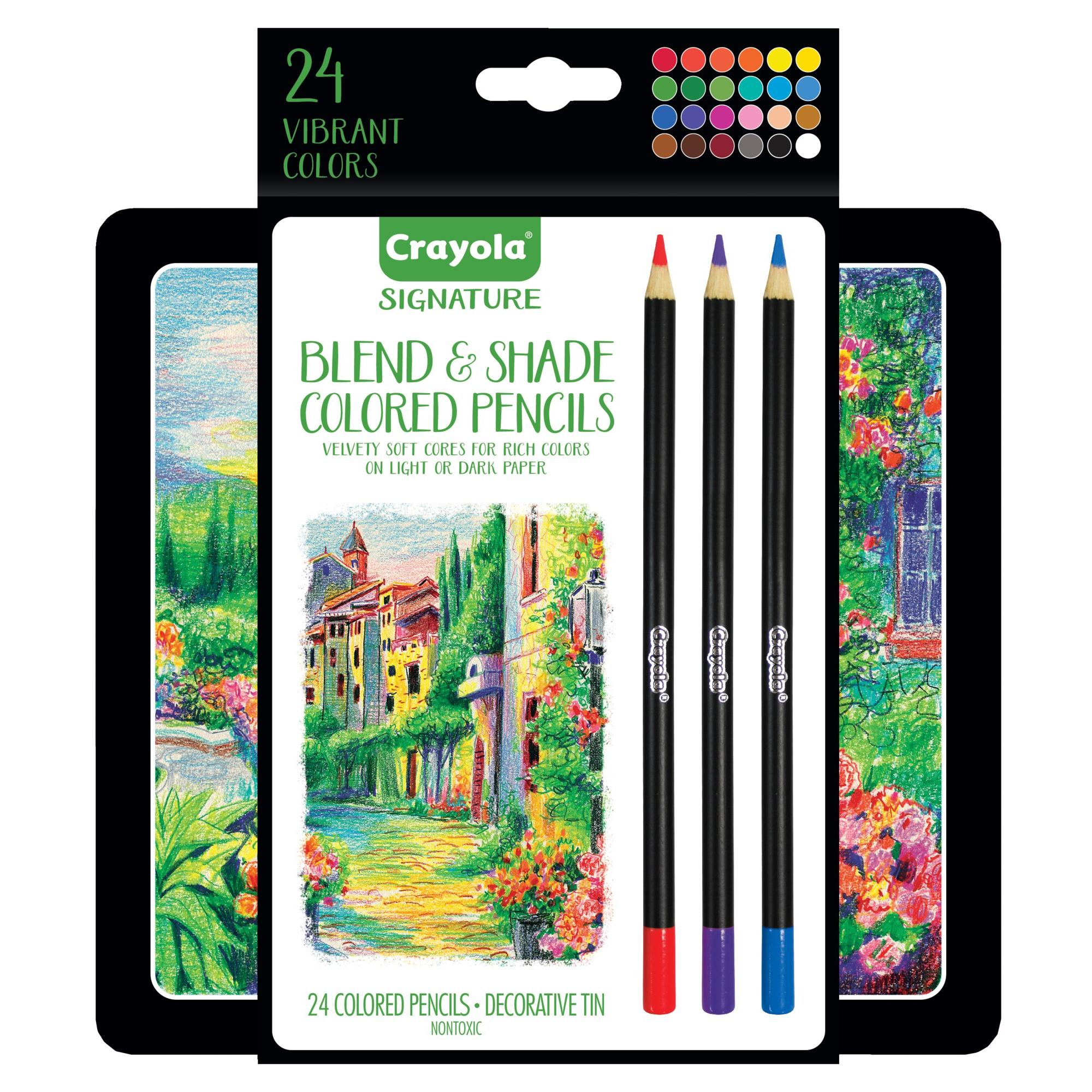 Crayola 24 Count Signature Blend And Shade Colored Pencils Walmart Com