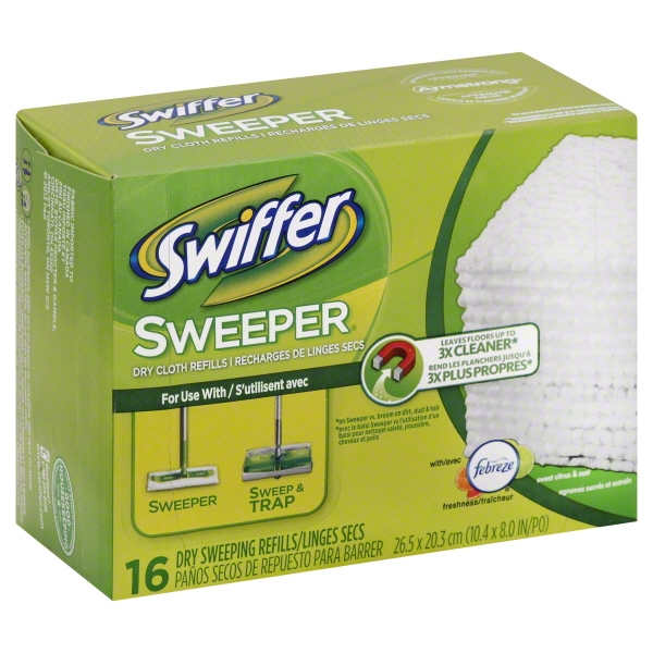 Swiffer with Febreze Sweet Citrus & Zest Sweeper Dry Sweeping Cloths 16 ct Box
