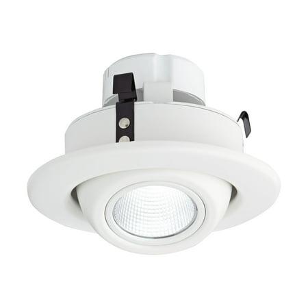"""Tesler 4"""" White Eyeball 10 Watt LED Retrofit Trim"""