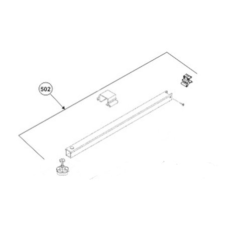 Dometic 3312047.000B Awning Main Rafter Assembly Kit, 66