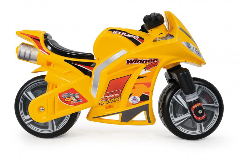 INJUSA Ride-On Motorcycle Winner Yellow over 5 years (No Battery) by VALESAN INC.