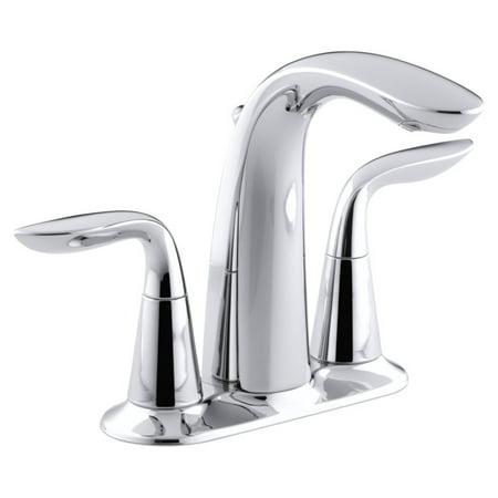 Kohler Refinia K5316 Centerset Double Lever Handles Bathroom Sink Faucet Double Lever Faucet