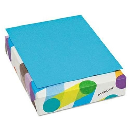 Mohawk BriteHue Multipurpose Colored Paper, 20lb, 8 1/2 x 11, Blue, 500 Shts/Rm 472208