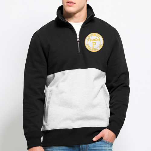 Pittsburgh Pirates '47 Coastal Quarter-Zip Pullover Sweatshirt - Black