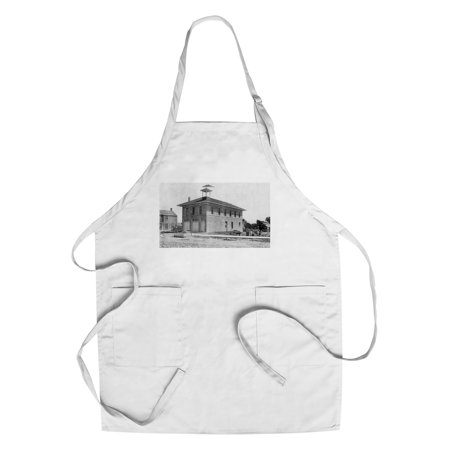 - Kinsley, Kansas - Exterior View of City Hall (Cotton/Polyester Chef's Apron)