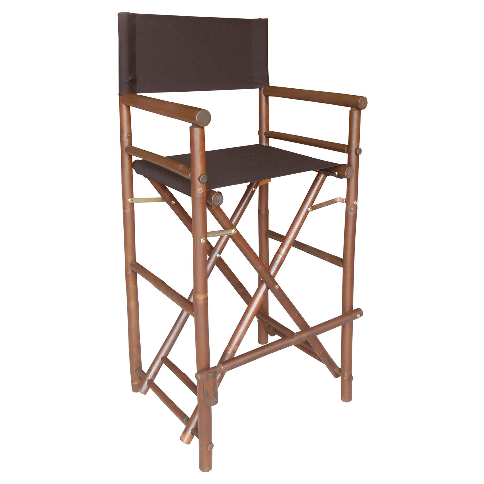 Bamboo 29-in. Bar Height Directors Chair with Solid Cover - Set of 2