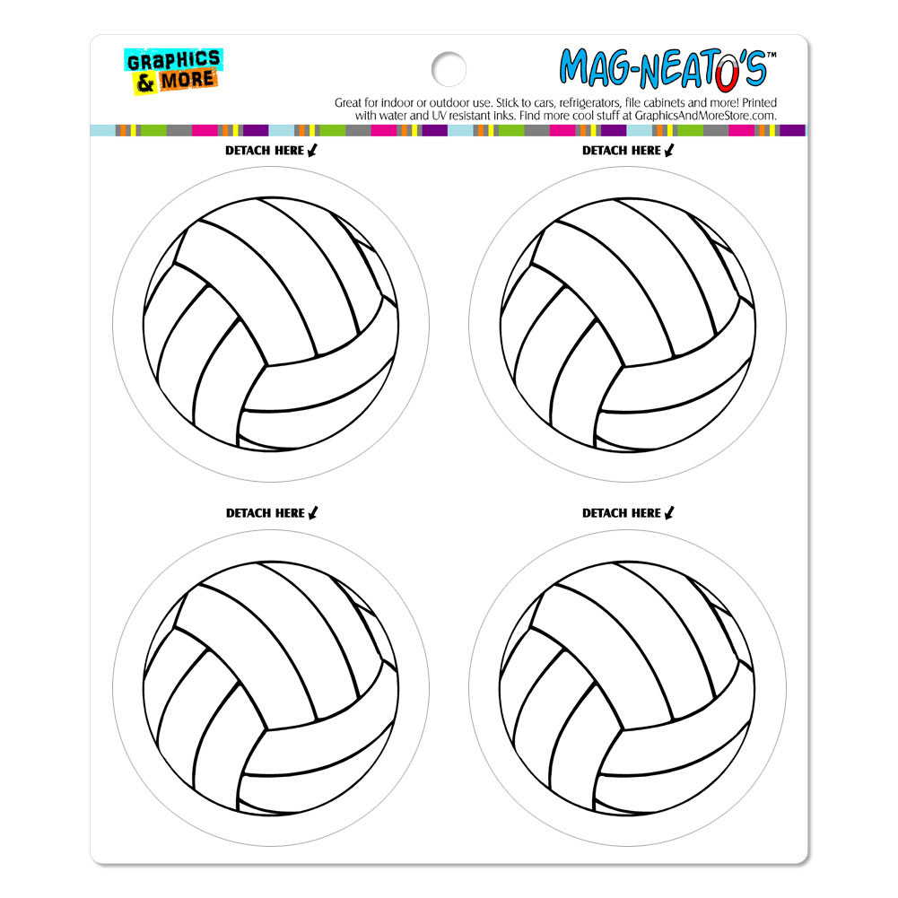 Cartoon Volleyball MAG-NEATO'S(TM) Car/Refrigerator Magnet Set