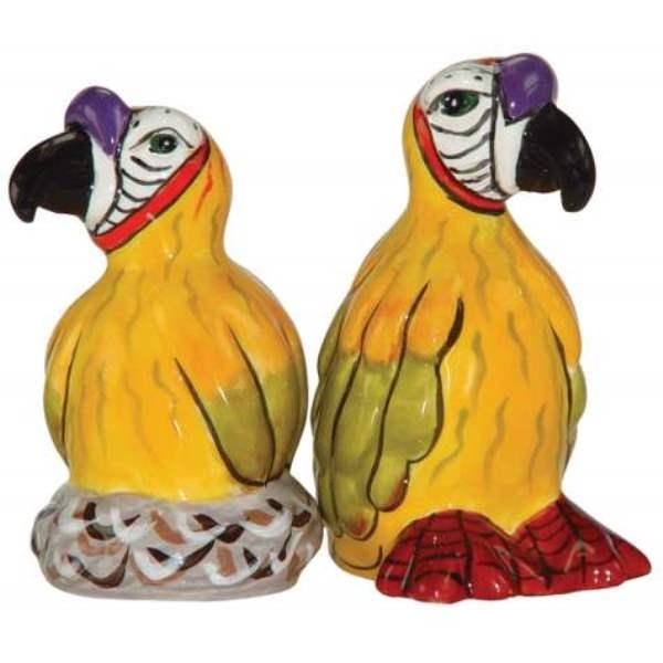Safari Tropical Parrots Jungle Salt and Pepper Shakers
