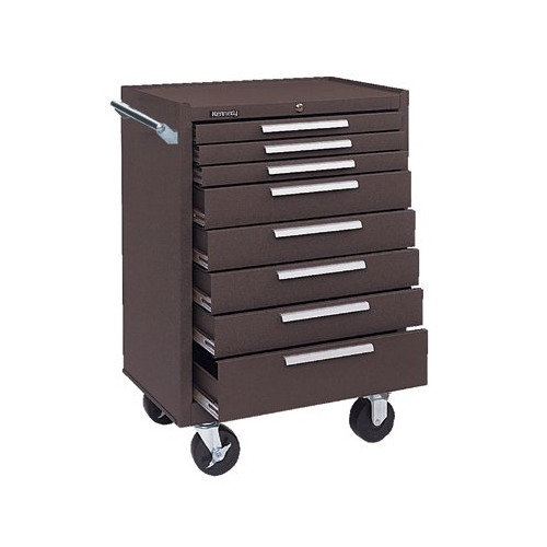 kennedy roller cabinet kennedy 378xb 00618 roller cabinet 8 drawers brown 18061