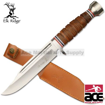 Elk Ridge Fixed Blade Hunting Knife Leather