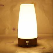 PIR Montion Sensor LED Table Lamp Bedside Night Light, 3 Modes Desk Lamp Modern Nightstand Lamp Night Light for Bedroom Living Room Office