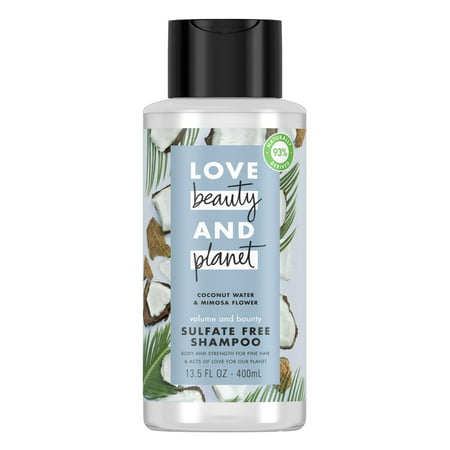 Love Beauty And Planet Volume and Bounty Thickening Shampoo for Thinning Hair, Coconut Water & Mimosa Flower 13.5 (Best Salon Shampoo For Thin Hair)