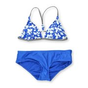 Raisins Womens Santa Barbara Skinny Ruched 2 Piece Bikini, blue, Medium