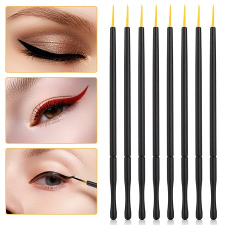 WALFRONT 100pcs Disposable Eyeliner Brush Hard Head Eyeliner Liquid Brush Eye Shadow Brush Makeup Tool, Eye Cosmetic, Makeup Tool