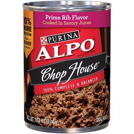 Purina Alpo Chop House Prime Rib Flavor Canned Dog Food  13 2 Oz