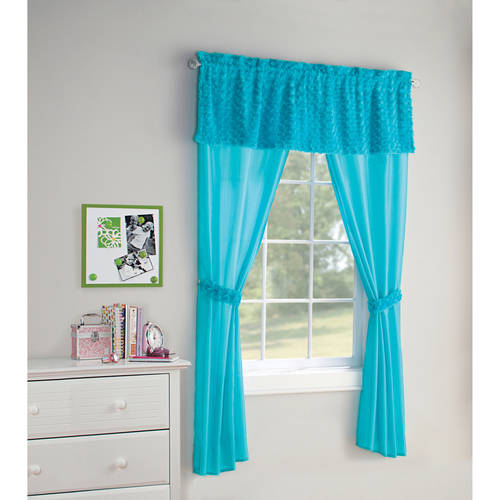 Your Zone 5-Piece Poodle Girls Bedroom Curtain Set