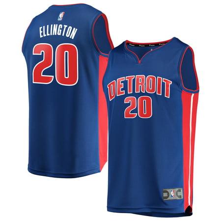 new arrival 040d6 a9f2c Wayne Ellington Detroit Pistons Fanatics Branded Youth Fast Break Replica  Jersey Blue - Icon Edition