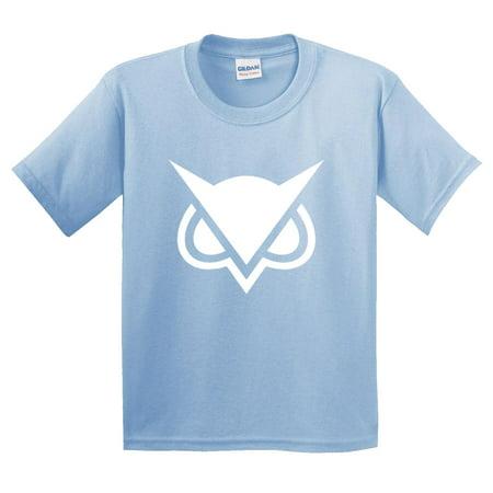 747 - Youth T-Shirt Vanoss Owl Gaming VG Logo Medium Light Blue