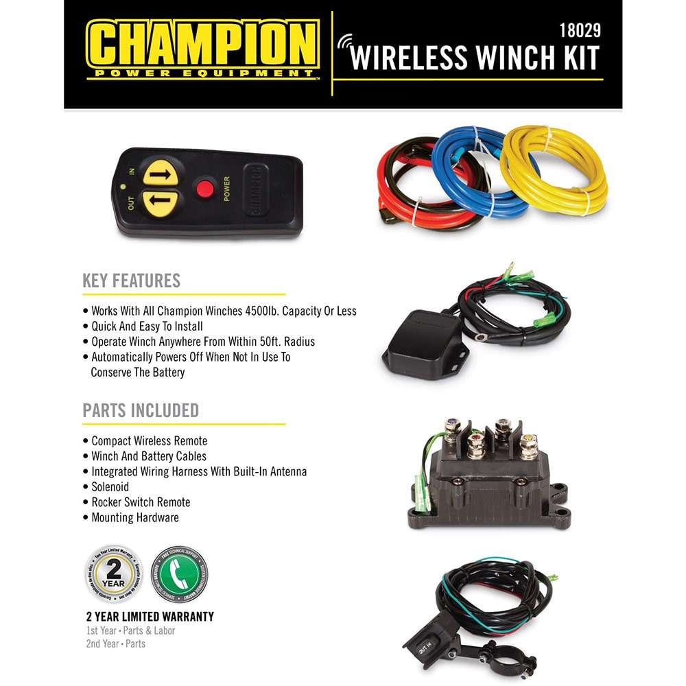 champion 4500 winch switch wiring