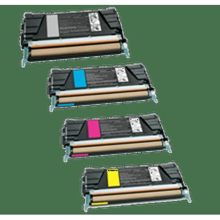 Zoomtoner Compatible LEXMARK C746 Laser Toner Cartridge Set Black Cyan Magenta Yellow for Lexmark / IBM C748E - image 1 of 1
