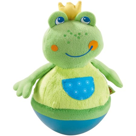 - HABA Roly Poly Frog Soft Wobbling & Chiming Baby Toy