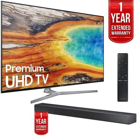 Samsung Un55mu9000 55 Inch 4K Uhd Smart Led Tv With Hw Ms750 Soundbar And 1 Year Extended Warranty Bundle