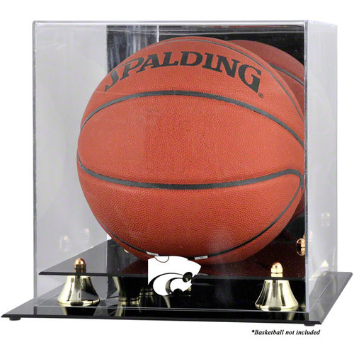 NCAA - Kansas State Wildcats Golden Classic Logo Basketball Display Case with Mirror Back