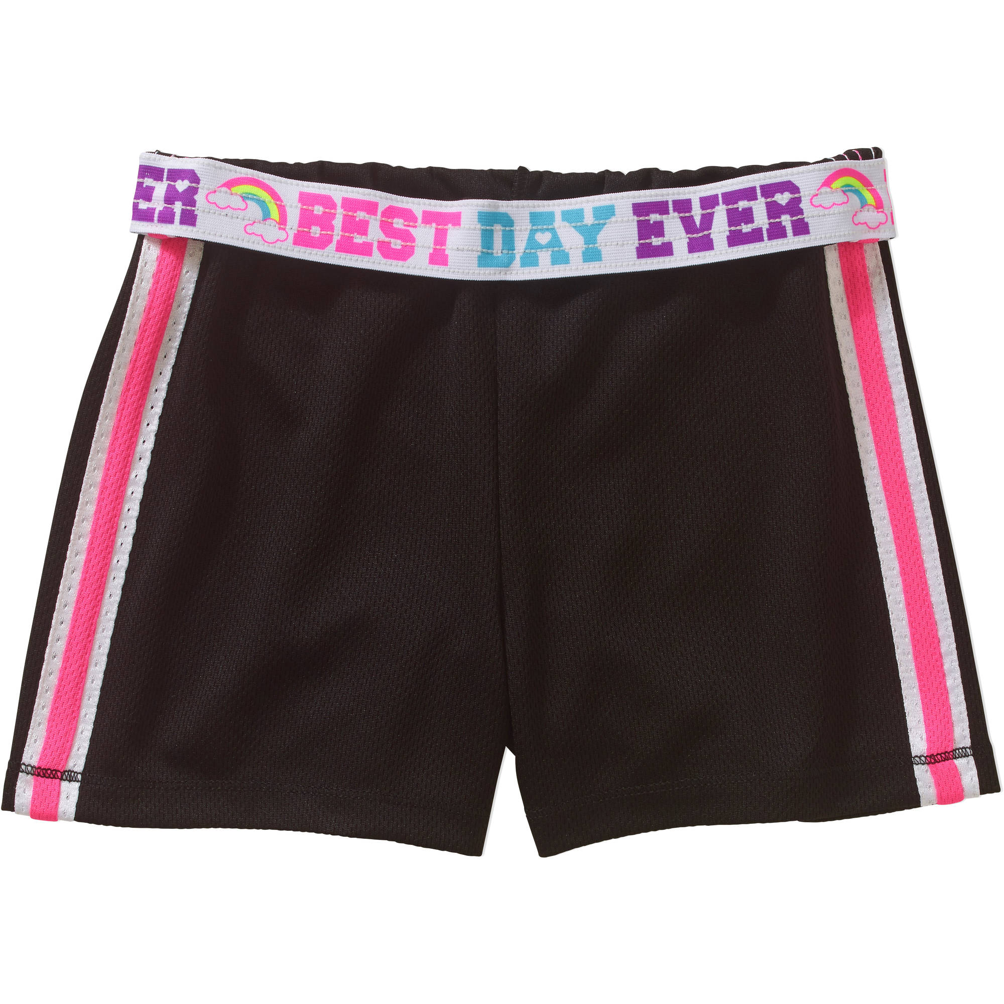 Faded Glory Girls' Solid Mesh Shorts by