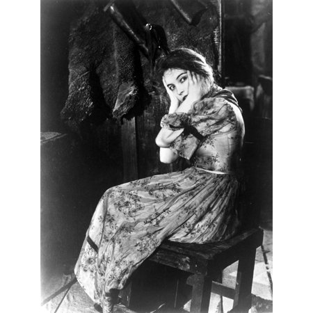 Lillian Gish on Dress sitting and Scared Portrait Photo Print