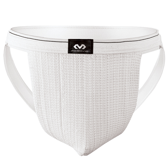 McDavid 2-Pack Athletic Swim/Run Supporter With Stretch Mesh Pouch, White, XL