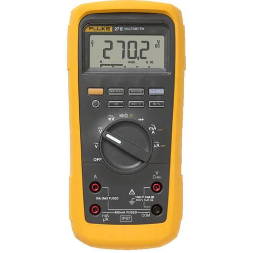 Fluke 27 II Rugged IP 67 Industrial Digital Multimeter
