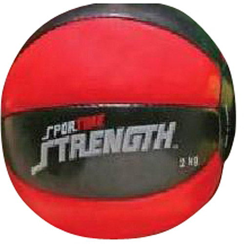 Sportime Strength Medicine Balls, Red and Black, 4.4 lbs