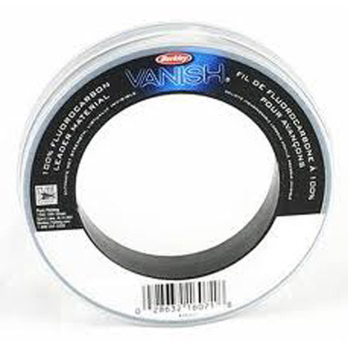 Berkley Vanish Fluorocarbon Leader Material Pocket Pack, Clear