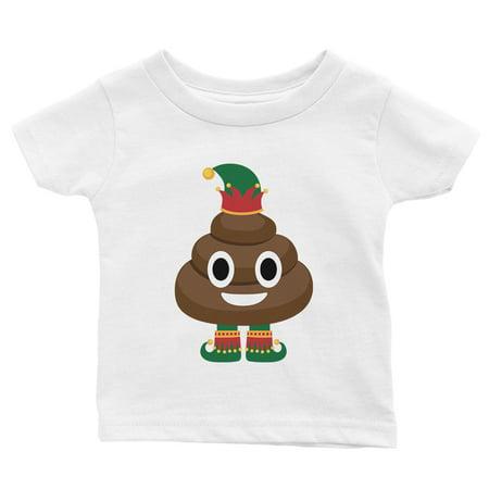 Black Halloween Burger Poop (Poop Elf Cute Holiday Baby Shirt X-mas)