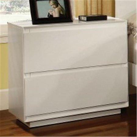 Furniture Of America IDF-7819N - Table de chevet contemporaine blanche  Leeroy