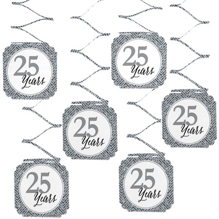 We Still Do - 25th Wedding Anniversary Party Hanging Decorations - 6 Count