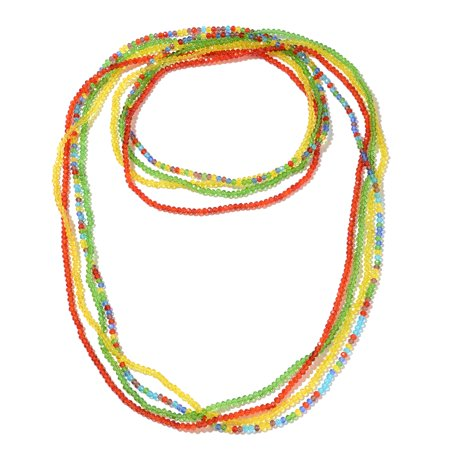 - Beads Yellow Glass Set of 4 Strand Necklace for Women 44