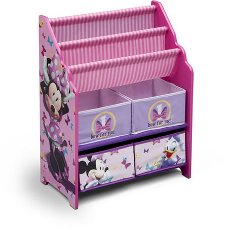 Disney Minnie Mouse Book and Toy Organizer - Disney Minnie Mouse Book And Toy Organizer - Walmart.com