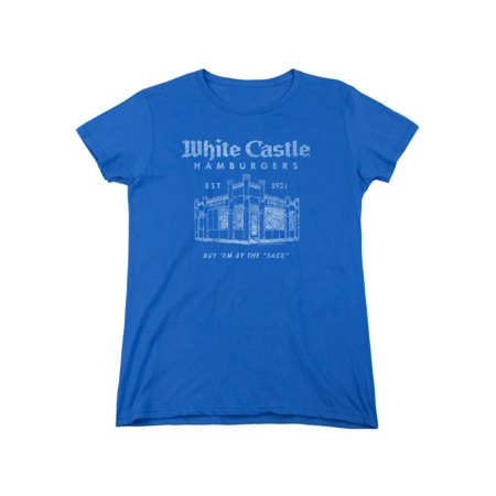 White Castle Fast Food Restaurant Chain By The Sack Women S T Shirt Tee