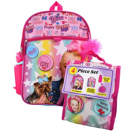 Backpack - JoJo Siwa - w/Lunch Bag & Water Bottle