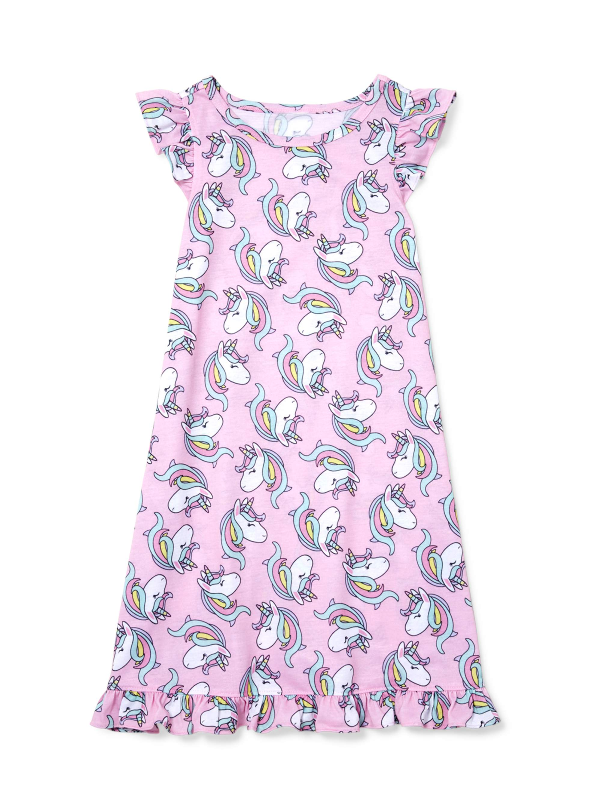 Girls' Ruffle Unicorn Pajama Nightgown (Little Girl & Big Girl)