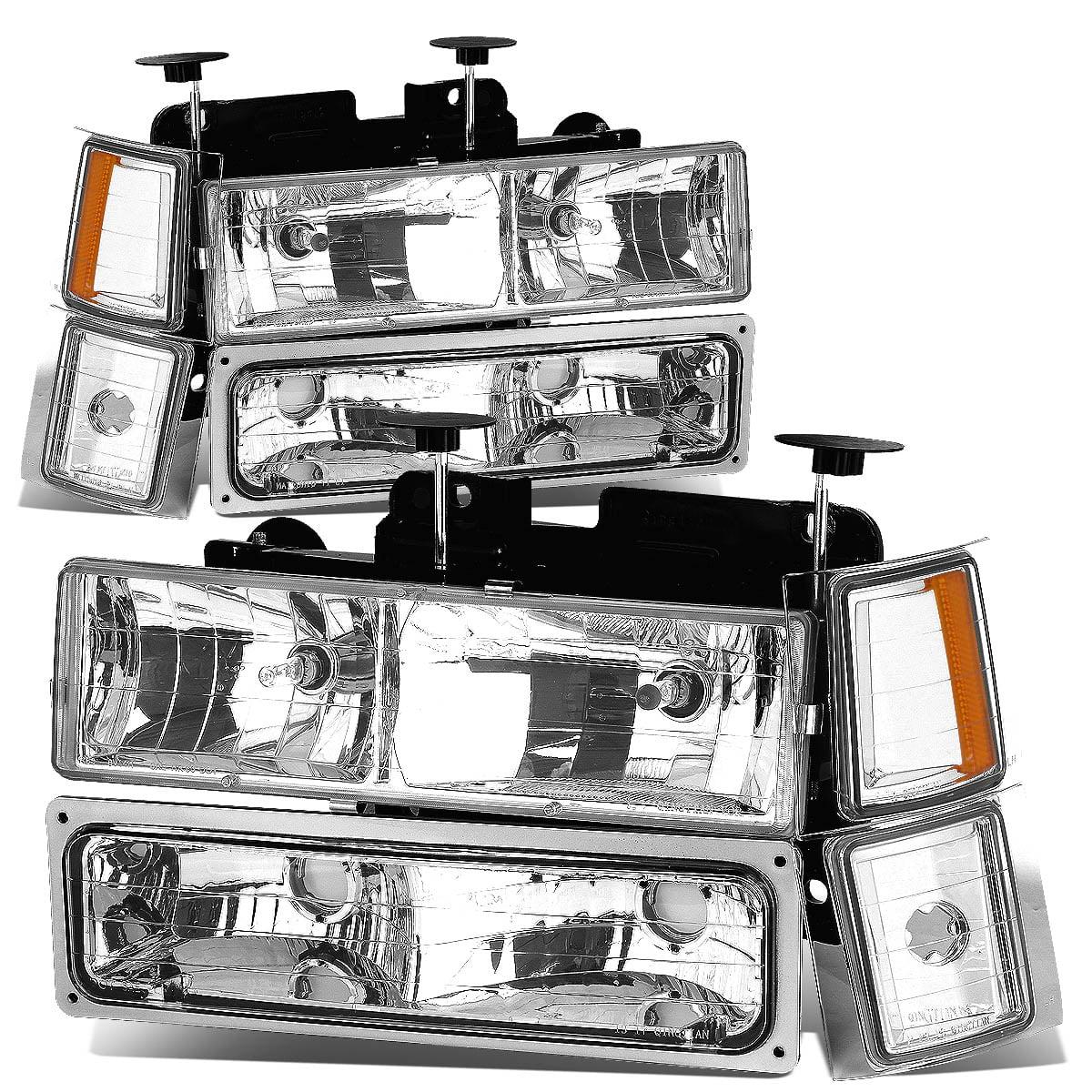 For 1994 To 2000 Chevy C    K   Tahoe 8pcs Headlight Bumper Corner Lamps Kit