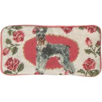 Eyeglass Case Schnauzer Dog 3.5x7 Wool Yarns New Hand-Embroidered Petit P JK-268